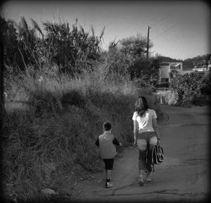 Med mamma til skolen